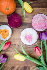 Vegan and Paleo Red Velvet Beetroot Latte