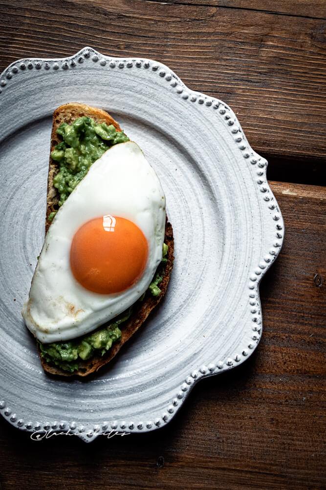 Eggs on Toast Food Photography