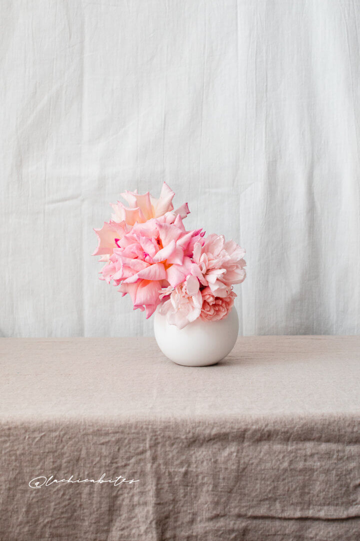 Floral photography and editorial photography for interior magazines. London peonies and roses. @lachicabites