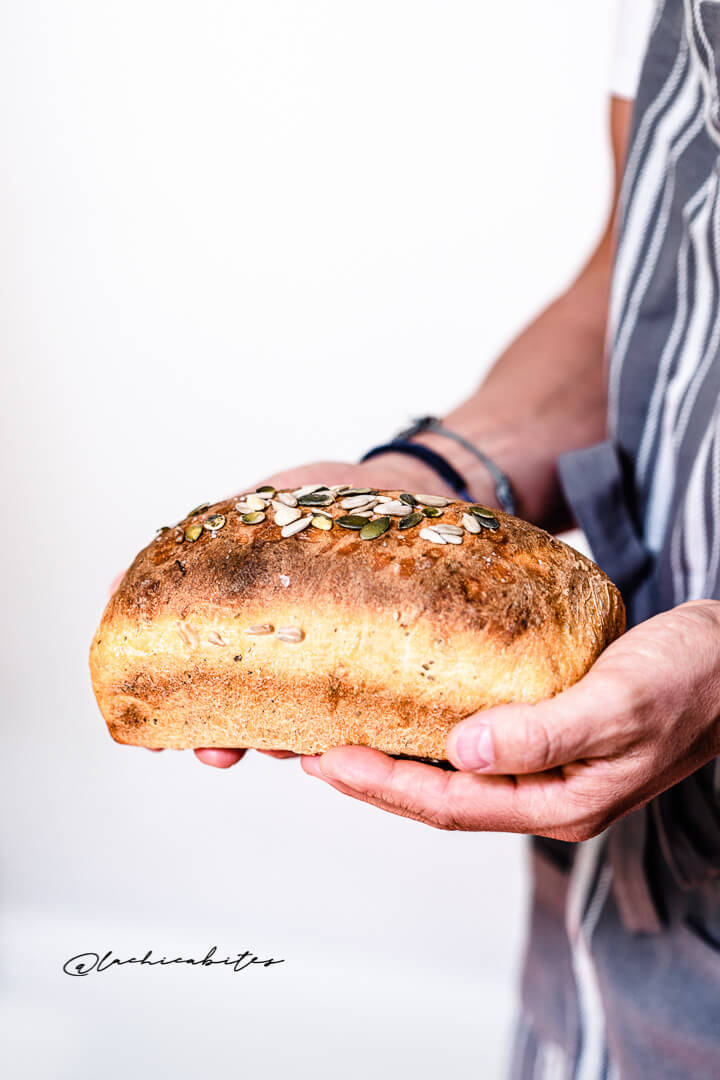 Homemade Bread with dried tomatoes and cheese. Food Photographer for editorial magazines in London @lachicabites