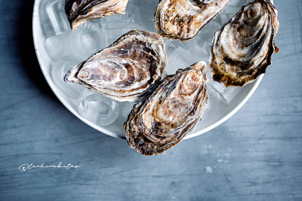 Food Photography for restaurants in London. Oysters